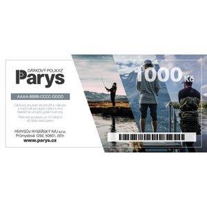 Dárkový poukaz parys.cz na nákup zboží v hodnotě 1000 kč - tištěný
