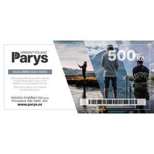 Dárkový poukaz parys.cz na nákup zboží v hodnotě 500 kč - tištěný