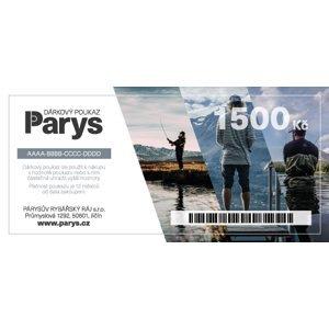 Dárkový poukaz parys.cz na nákup zboží v hodnotě 1500 kč - tištěný