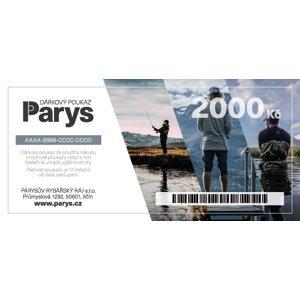 Dárkový poukaz parys.cz na nákup zboží v hodnotě 2000 kč - tištěný