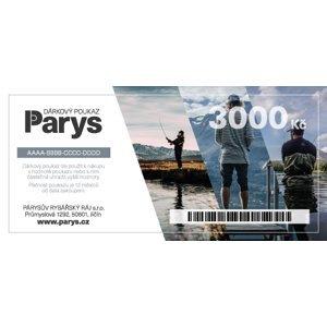 Dárkový poukaz parys.cz na nákup zboží v hodnotě 3000 kč - tištěný