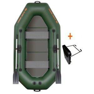 Kolibri člun k-240 tp zelený pevná podlaha + držák