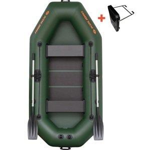 Kolibri člun k-260 t zelený lamelová podlaha + držák