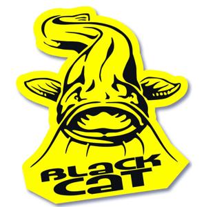 Black cat samolepka catfish 8x7 cm