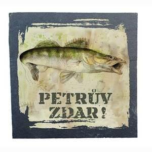 Bg břidlicový podtácek pod hrnek - pro rybáře 2 ks