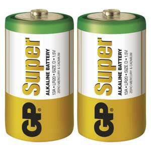 Gp batteries alkalická baterie gp super lr20 (d) 2 ks