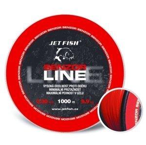 Jet fish senzor line red 1000 m-průměr 0,35 mm / nosnost 11,5 kg