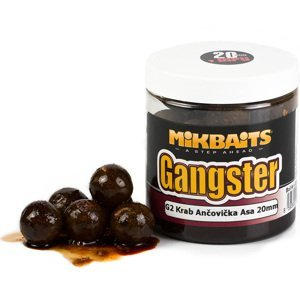 Mikbaits  boilies v dipu  gangster 250 ml -g2 krab&ančovička&asa20mm