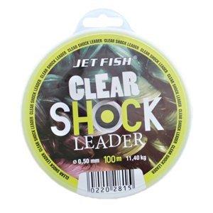 Jet fish clear shock leader crystal 100 m-průměr 0,60 mm / nosnost 15,7 kg