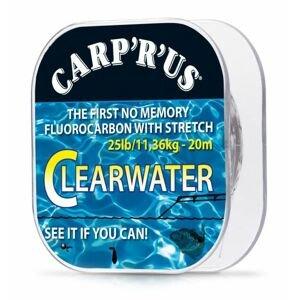 Carp ´r´ us clearwater - návazcový fluorocarbon 20 m crystal-nosnost 25 lb