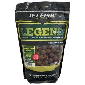 Jet fish boilie legend range extra tvrdé 250 g 24 mm-kořeněný tuňák + a.c. broskev
