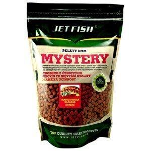 Jet fish mystery pelety 8mm 1 kg-jahoda/moruše