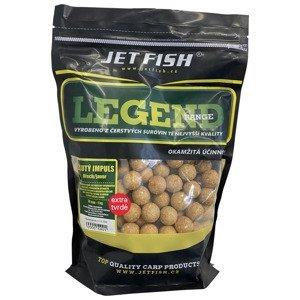 Jet fish extra tvrdé boilie legend range žlutý impuls ořech javor 30 mm 250 g