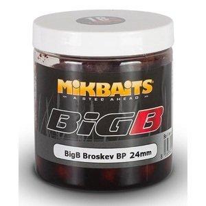 Mikbaits boilies legends v dipu bigb broskev black pepper 250 ml-24 mm
