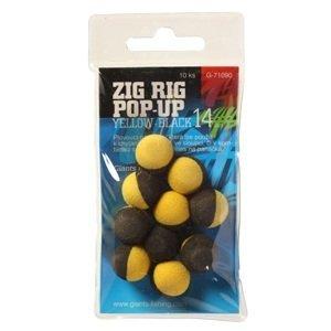 Giants fishing pěnové plovoucí boilie zig rig 14 mm 10 ks-černo růžová