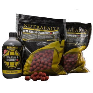 Nutrabaits boilies bfm krill&cranberry-1 kg 15 mm