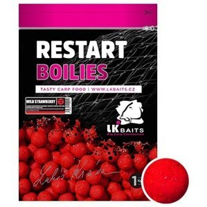Lk baits boilie restart wild strawberry-250 g 18 mm