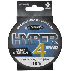 Ron thompson splétaná šňůra hyper 4 braid grey 110 m-průměr 0,13 mm / nosnost 6,8 kg