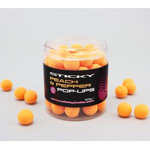 Sticky baits plovoucí boilies peach pepper pop-ups 100 g-12 mm