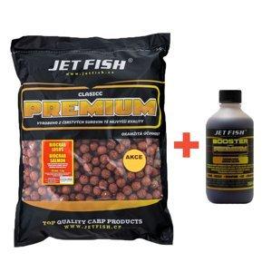 Jet fish boilie premium clasicc 5 kg 20 mm + booster zdarma-švestka česnek