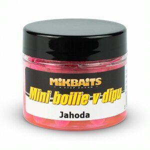 Mikbaits mini boilie v dipu 6-8 mm 50 ml-jahoda