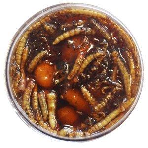 Tb baits nakládaný tygří ořech xxl + červ 150 ml-bloodworm