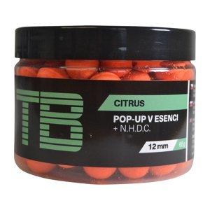 Tb baits plovoucí boilie pop-up orange citrus + nhdc 65 g-12 mm