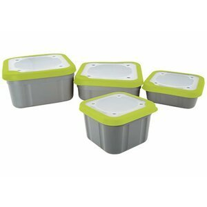 Fox Matrix krabička Grey/Lime Bait Boxes Solid Top 1.1pt (0,63l)