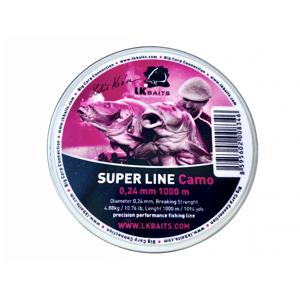 LK Baits vlasec Super Line Camo 0,28mm 1000m