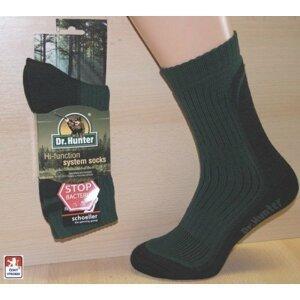 Dr. Hunter ponožky Herbst Leicht celorok trek trek odlehčená, zelená