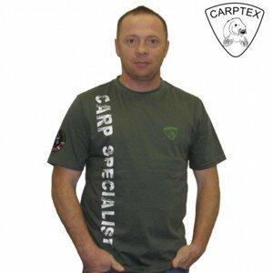 Carptex pánské triko Carp Specialist - Khaki-S