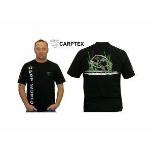 Carptex pánské polo Carp World - černá-XXL