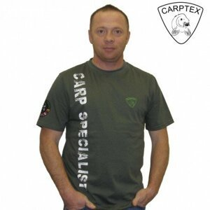 Carptex pánské polo Carp Specialist - Khaki-M