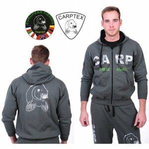 Carptex mikina s kapucí Carp Specialist -Khaki-L