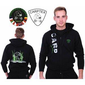 Carptex mikina s kapucí Carp World-černá-M