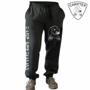 Carptex pánské tepláky Carp World černá-M
