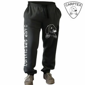 Carptex pánské tepláky Carp World černá-L