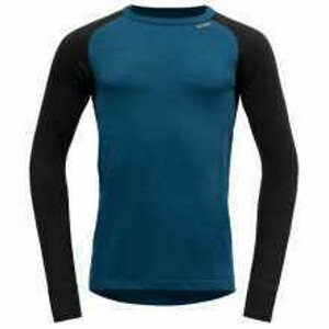 Pánské triko Devold Expedition Man Shirt Velikost: M / Barva: modrá/černá