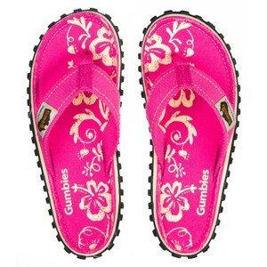 Dámské žabky Gumbies Islander Pink Hibiscus Velikost bot: 38 / Barva: pink