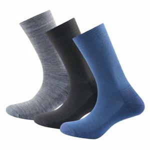 Ponožky Devold Daily Medium Sock 3PK Velikost: 36-40 / Barva: modrá