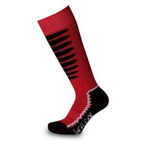 Dětské podkolenky Sherpax Laudo P červené Velikost ponožek: 35-38 / Barva: červená