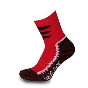 Dětské ponožky Sherpax Laudo červené Velikost ponožek: 30-34 / Barva: červená