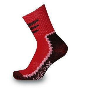 Dětské ponožky Sherpax Laudo light červené Velikost ponožek: 35-38 / Barva: červená