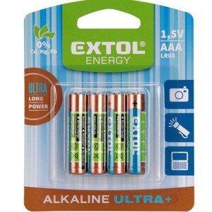 Baterie Extol AAA Ultra+ 4 ks