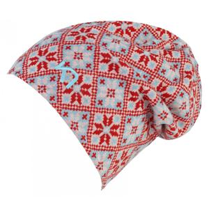 Dámská čepice Kari Traa Rose Beanie Barva: červená/šedá