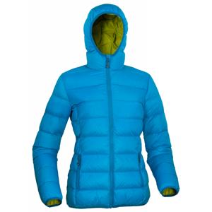 Dámská péřová bunda Warmpeace Tacoma Lady Velikost: S / Barva: modrá/zelená
