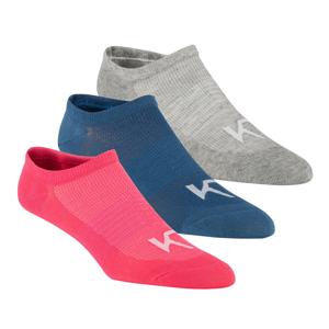 Dámské ponožky Kari Traa Hæl 3 Pk Velikost ponožek: 36-38 / Barva: bílá/růžová/modrá