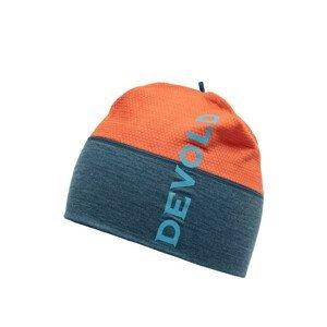 Čepice Devold Running Beanie Obvod hlavy: 58 cm / Barva: modrá/oranžová