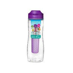 Láhev Sistema Tritan Infuser Bottle 800ml Barva: fialová
