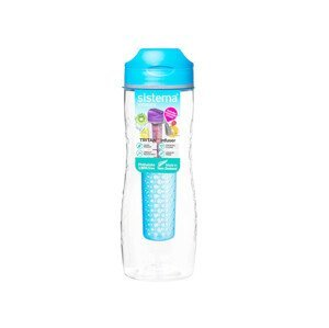 Láhev Sistema Tritan Infuser Bottle 800ml Barva: světle modrá